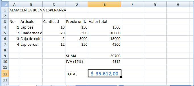 Herramientas de Ofimática II–Hoja de Calculo Excel 2007 ...